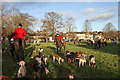 NT5930 : The Buccleuch Hunt meet at St Boswells by Walter Baxter