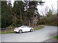 SN9167 : Road in Elan Valley near Penbont House by Christine Matthews
