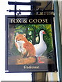 SU1026 : Sign for the Fox and Goose, Coombe Bissett by Maigheach-gheal
