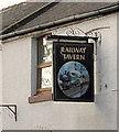 SE5822 : Railway Tavern sign, Hensall by Alan Murray-Rust
