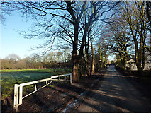 SJ8092 : Football pitch near Jackson's Boat, Sale by Phil Champion