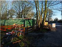 SJ8092 : The Bike Barn, near Jackson's Boat by Phil Champion