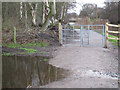 SJ6568 : Kissing gate on the towpath by Stephen Craven