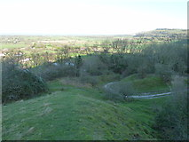 TQ2411 : Paths and tracks on the climb up Fulking Hill by Dave Spicer