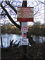 TM2246 : Notice at Sinks Pit, Kesgrave by Adrian Cable