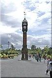 SJ6855 : Queen's Park, Clock In Crewe by Douglas Cumming
