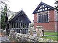 SJ6269 : Whitegate church lychgate by Stephen Craven
