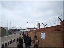 TQ3783 : View of the Olympic Stadium from Marshgate Lane by Robert Lamb