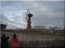 TQ3783 : View of the viewing tower from the Greenway #3 by Robert Lamb