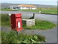 HU3848 : Haggersta: postbox № ZE2 72 by Chris Downer