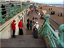 TQ3103 : Break Time - Brighton Beach by Christine Westerback