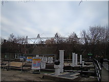 TQ3783 : View of the Olympic Stadium from Old Ford Lock by Robert Lamb