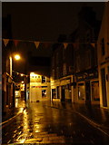 HU4741 : Lerwick: Commercial Street on a wet night by Chris Downer