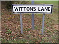 TM1977 : Wittons Lane sign by Adrian Cable