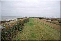 TQ7178 : Flood wall and embankment by N Chadwick