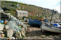 SW4022 : Fishing boats at Penberth Cove by Graham Horn