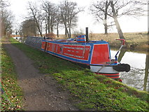 SP7289 : Working Narrow Boat Hadar  moored near Gallow Hill by Keith Lodge