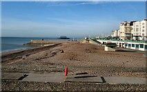TQ3103 : Beach west of Brighton Pier by Paul Gillett