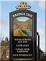 SJ7992 : Bridge Inn (sign) by David Dixon
