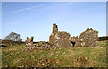 NT0402 : A ruined building at Pyot Knowe by Walter Baxter