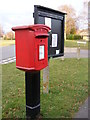TM2444 : Martlesham Village Notice Board & Lancaster Drive Postbox by Adrian Cable