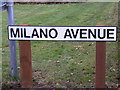 TM2545 : Milano Avenue sign by Geographer