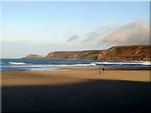 SW3526 : Low tide at Sennen Cove by John Lucas