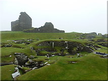 HU3909 : Jarlshof: Iron Age remains and the Laird's House by Chris Downer