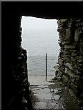 HU3909 : Jarlshof: sea view through wheelhouse door by Chris Downer