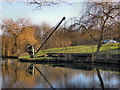SJ7588 : Crane and Boards, Bridgewater Canal by David Dixon