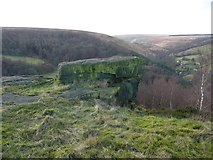 SE0022 : The Bull Fall Stone and its view, Cragg Vale by Humphrey Bolton