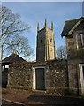 SS6301 : Church tower and wall, Sampford Courtenay by Derek Harper