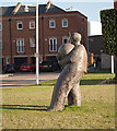 SZ6399 : Stone Statue, Gunwharf Quays by Mike Lyne