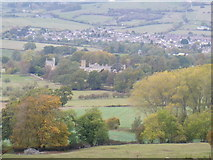 SP0327 : Castle and town by Michael Dibb