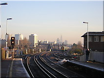 TQ2775 : Clapham Junction: view towards London by Christopher Hilton