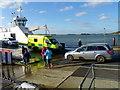 SZ0387 : Ambulance, Sandbanks by Maigheach-gheal