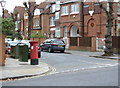 TQ2078 : South Parade | Esmond Road postbox (ref. W4 30) by Alan Murray-Rust