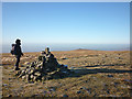 NY6538 : Summit cairn, Melmerby Fell by Karl and Ali