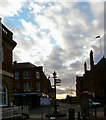 SJ9494 : Crown Pole and Corporation Street by Gerald England