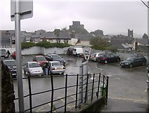 SX3384 : The small car park in Southgate Street Launceston by Eric Foster
