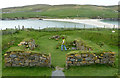 HU3620 : St Ninian's Church remains (2) from West by Rob Farrow