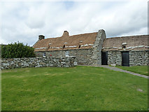 HU3914 : Shetland Crofthouse museum - croft and byre by Rob Farrow