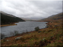 SH7157 : Llynnau Mymbyr from Plas y Brenin in winter by Jeremy Bolwell