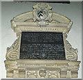 SK8043 : Memorial to Anne Staunton, St Mary's church by J.Hannan-Briggs