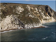 SY8080 : Cliffs at Man o'War Cove by Colin Smith