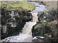 NY7976 : Waterfall on Middle Burn, Stonehaugh by Les Hull