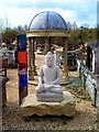 SU3468 : Statue,  Dome and Coloured Glass Thing by Des Blenkinsopp