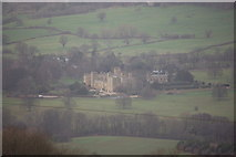 SP0327 : Sudeley Castle viewed from the Cotswold Way near Belas Knap by Roger Davies