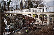 TQ2652 : Reigate Hill Footbridge - refurbishment by Ian Capper