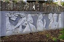 R1388 : Sculpture at Teach Ceoil, Church Street, Ennistymon by P L Chadwick